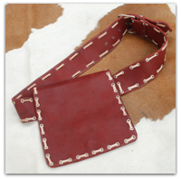 Crimson Ivory Stitch Belt