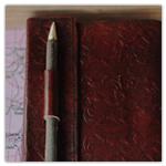 Floral Pencil Clasp Medium Journal