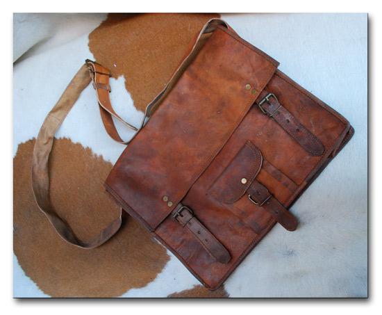 Large one front pocket messenger bag